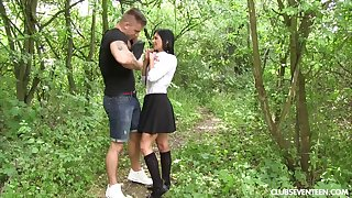 Hardcore fucking in outdoors with epigrammatic tits babe Chrissy Fox