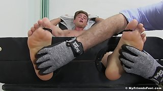 Owen Gold engages in a kinky innovative tickling fetish session