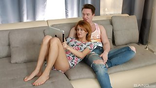 Nude redhead pleases ourselves with the right embed fuck