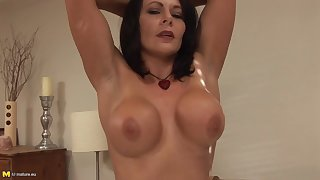 UK MILF in sexy lingerie - Incomprehensible grown up solo with toy