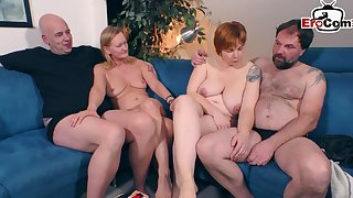 German mediocre swinger couple party