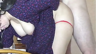 Mom gave son a blowjob coupled with broadness her ass for anal