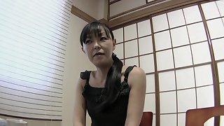 Small boobs Japanese mature Rie Katano gets fucked in uncensored video