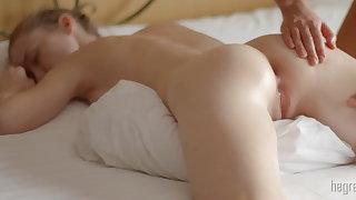 Girl girl flock body massage