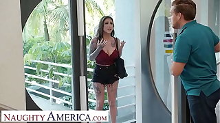 Naughty America - Lily Lane fucks a married stranger as thanks be fitting of his hospitality