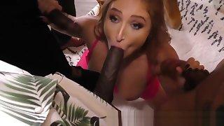 Whore takes big black cocks